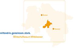 Wirtschaftsraum Infospalte©Wirtschaftsförderung im Landkreis Nienburg/Weser GmbH