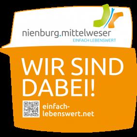 Botschafterplakette WIR SIND DABEI©Wirtschaftsförderung im Landkreis Nienburg/Weser GmbH