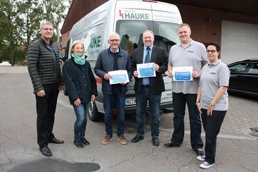 Elektro Hauke als neuer Botschafter©Wirtschaftsförderung im Landkreis Nienburg/Weser GmbH