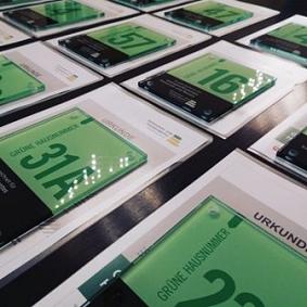 Grüne Hausnummer Auszeichnung©Klimaschutzagentur Mittelweser