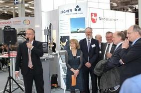 Landrat Detlev Kohlmeier bei der Begrüßungsrede©Wirtschaftsförderung im Landkreis Nienburg/Weser GmbH