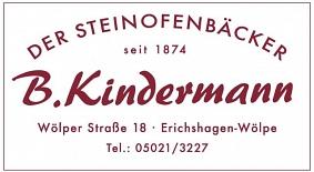 Logo Bäckerei Kindermann©Wirtschaftsförderung im Landkreis Nienburg/Weser GmbH