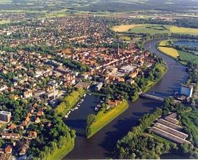 Luftbild_Innenstadtblick©Wirtschaftsförderung im Landkreis Nienburg/Weser GmbH