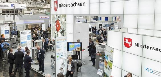 Stand Hannover Messe©Wirtschaftsförderung im Landkreis Nienburg/Weser GmbH