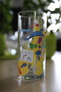Trinkglas Zukunftstag 2018©Landkreis Wirtschaftsförderung im Landkreis Nienburg/Weser GmbH