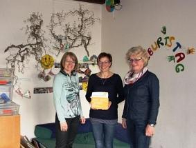 Übergabe der Botschafter-Plakette an Sabine Wesemann